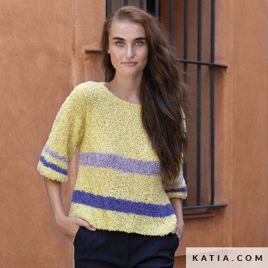 patroon breien haken dames trui lente zomer katia 6122 37 p