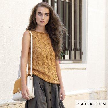 patroon breien haken dames trui lente zomer katia 6122 41 p