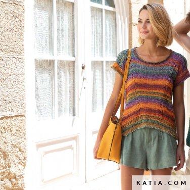 patroon breien haken dames trui lente zomer katia 6122 7 p
