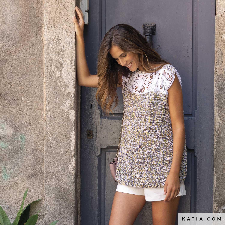Top Donna Primavera Estate Modello Schemi Katiacom