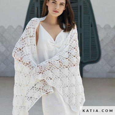 patroon breien haken dames stola lente zomer katia 6123 34 p