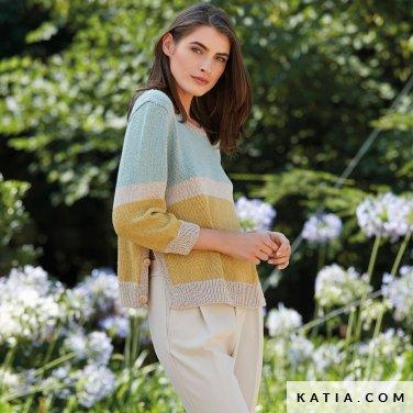 patroon breien haken dames trui lente zomer katia 6123 10 p