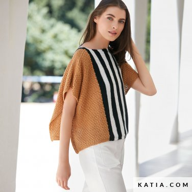 patroon breien haken dames trui lente zomer katia 6123 19 p