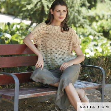 patroon breien haken dames trui lente zomer katia 6123 37 p