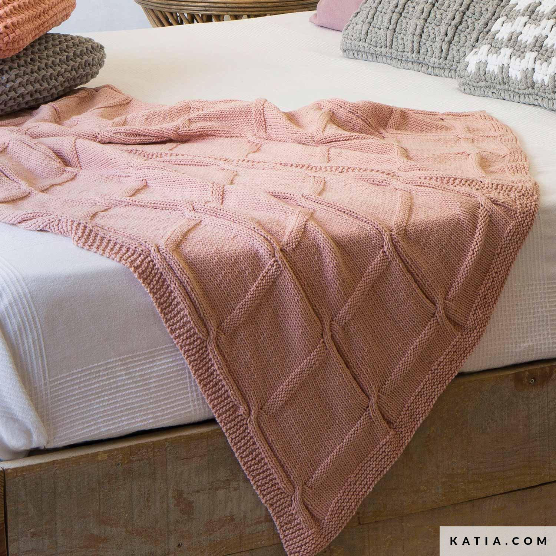 Como Hacer Cuadros De Crochet Para Mantas.Manta Hogar Primavera Verano Patrones Katia Com