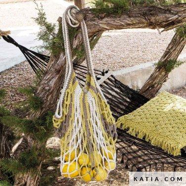 patroon breien haken dames tas van netwerk lente zomer katia 6124 25 p