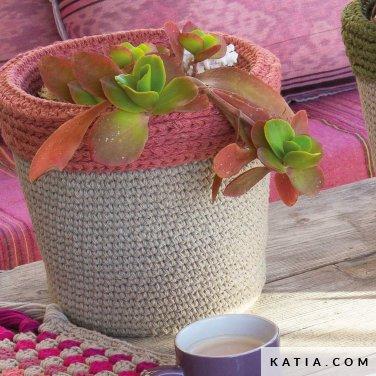 patroon breien haken woning bloembak lente zomer katia 6124 50a p