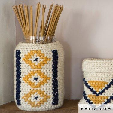 patroon breien haken woning hoezen voor containers lente zomer katia 6124 65 p