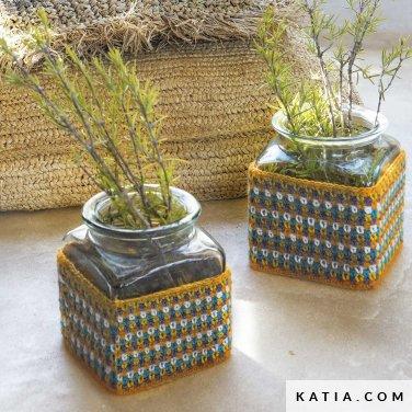patroon breien haken woning hoezen voor containers lente zomer katia 6124 69 p
