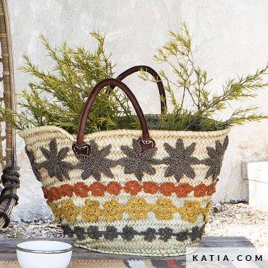 patroon breien haken woning personaliseren van een mand lente zomer katia 6124 2 p
