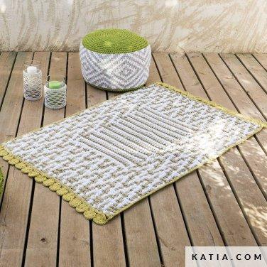 patroon breien haken woning tapijt lente zomer katia 6124 24 p