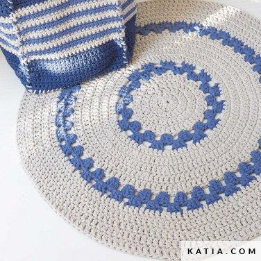 patroon breien haken woning tapijt lente zomer katia 6124 44 p