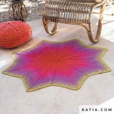 patroon breien haken woning tapijt lente zomer katia 6124 48 p