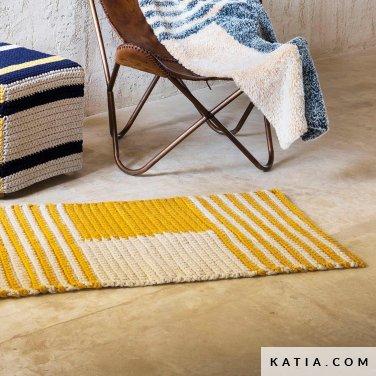 patroon breien haken woning tapijt lente zomer katia 6124 64 p