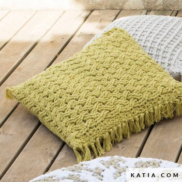 pattern knit crochet home cushion spring summer katia 6124 1 p