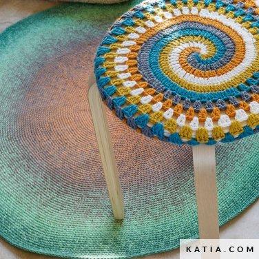 pattern knit crochet home rug spring summer katia 6124 70 p