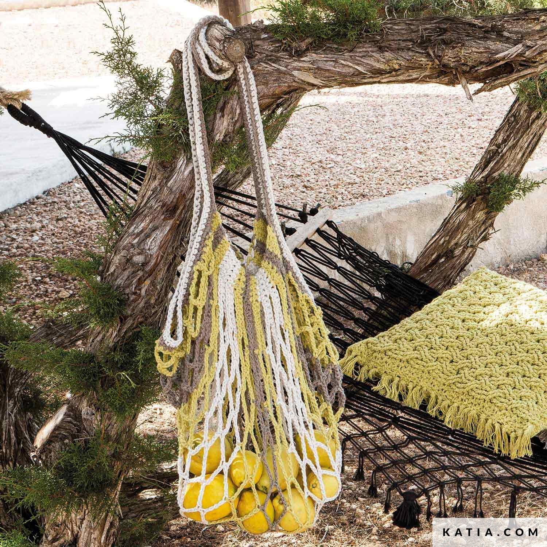Net Crochet Bag Woman Spring Summer Models Patterns