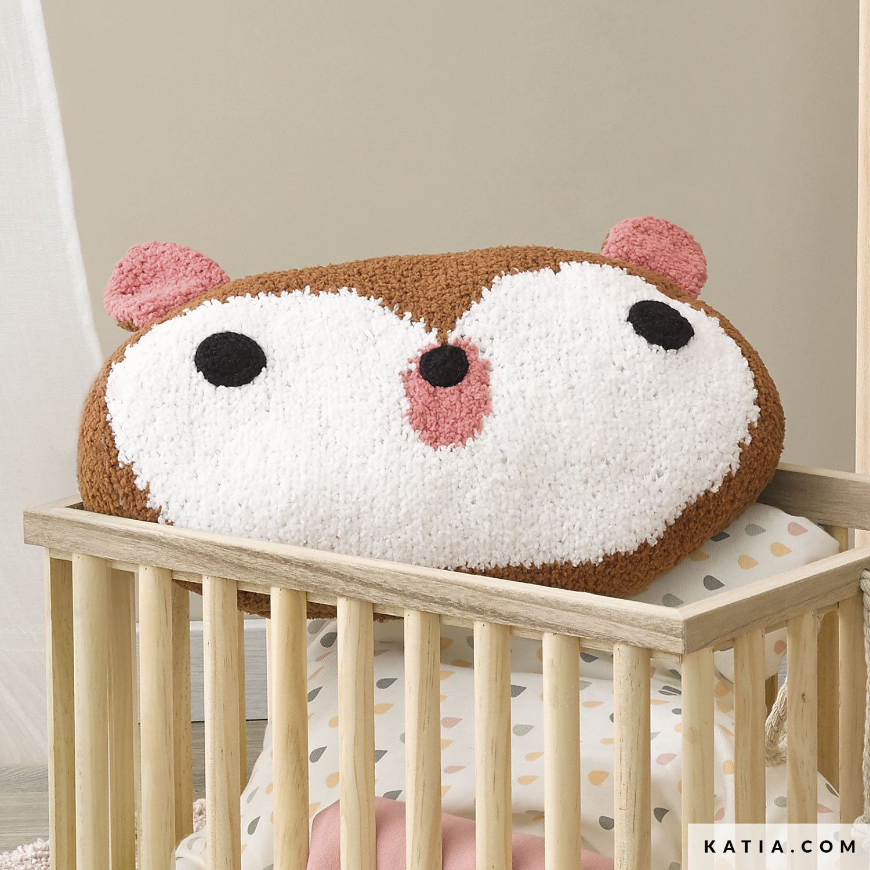 Crochet Teddy Bear Pillow #crochetteddybears Crochet Teddy Bear ... | 1500x1500