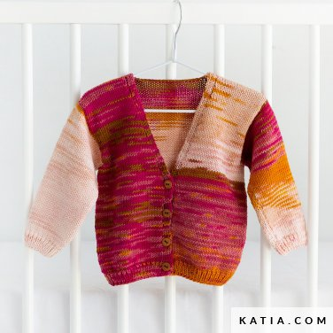 pattern knit crochet baby jacket autumn winter katia 6135 32 p