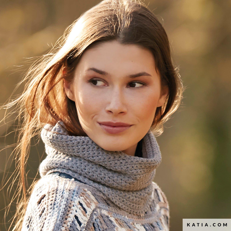 patroon breien haken dames colsjaal herfst winter katia 6139 26 g