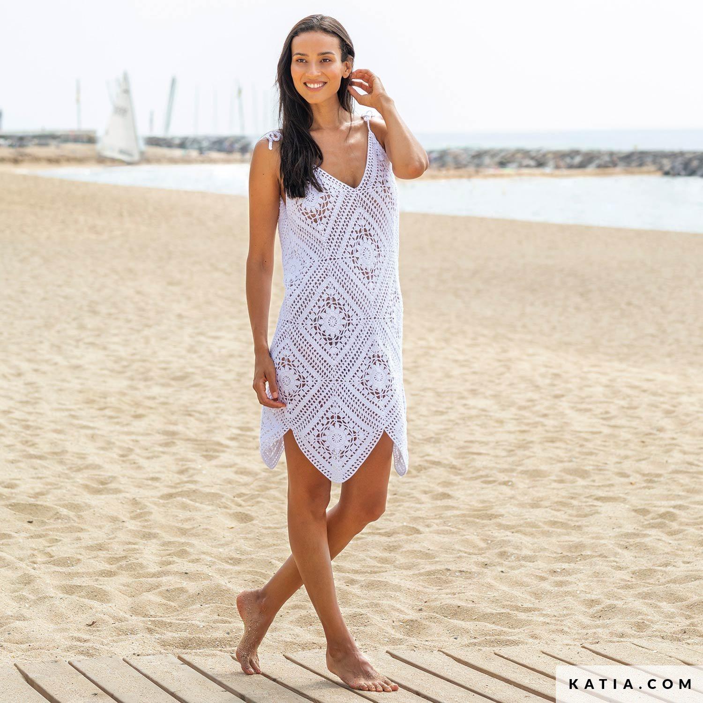 patroon breien haken dames jurk lente zomer katia 6165 59 g