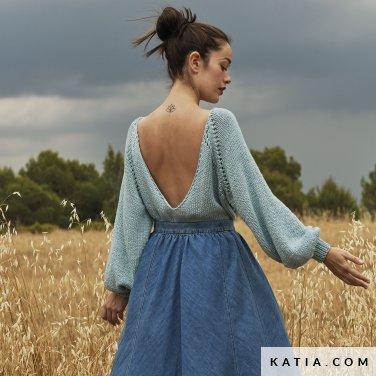 patroon breien haken dames trui lente zomer katia 6167 23 p
