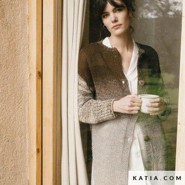 patroon breien haken dames jas herfst winter katia 6183 15 p