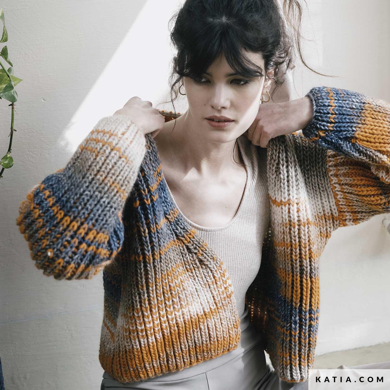 patroon breien haken dames jas herfst winter katia 6183 17 g