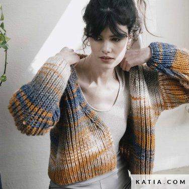patroon breien haken dames jas herfst winter katia 6183 17 p