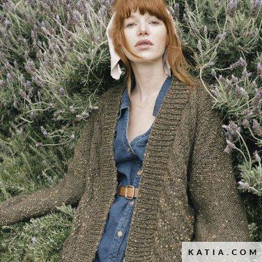 patroon breien haken dames jas herfst winter katia 6183 38 p