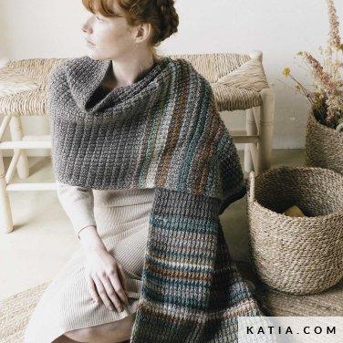 patroon breien haken dames stola herfst winter katia 6183 14 p