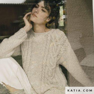 patroon breien haken dames trui herfst winter katia 6183 13 p