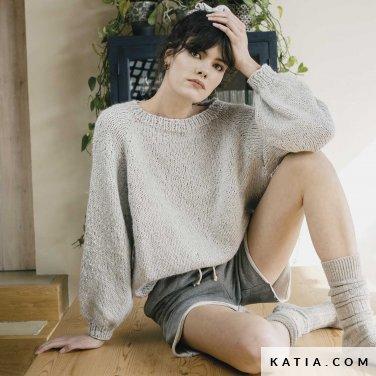 patroon breien haken dames trui herfst winter katia 6183 16 p