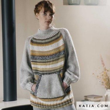 patroon breien haken dames trui herfst winter katia 6183 18 p