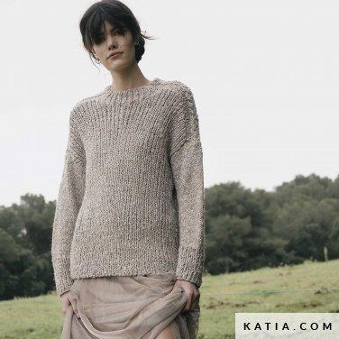 patroon breien haken dames trui herfst winter katia 6183 20 p