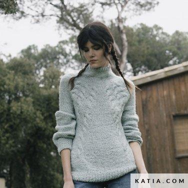 patroon breien haken dames trui herfst winter katia 6183 21 p