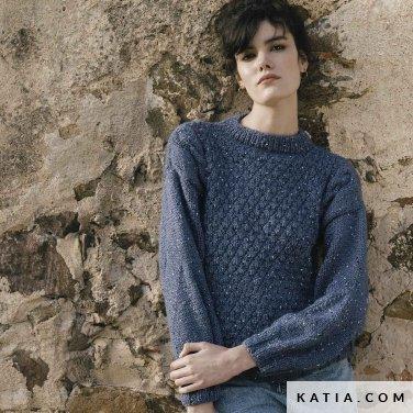 patroon breien haken dames trui herfst winter katia 6183 24 p