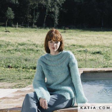 patroon breien haken dames trui herfst winter katia 6183 31 p