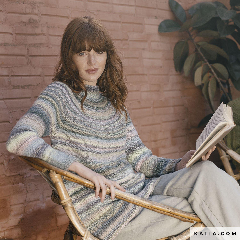 patroon breien haken dames trui herfst winter katia 6183 36 g