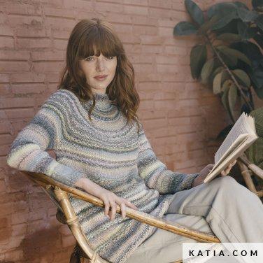 patroon breien haken dames trui herfst winter katia 6183 36 p