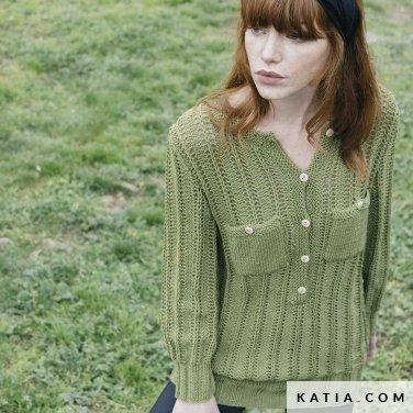 patroon breien haken dames trui herfst winter katia 6183 37 p