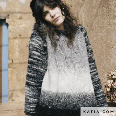 patroon breien haken dames trui herfst winter katia 6183 39 p