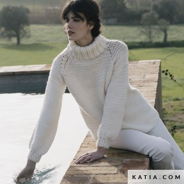 patroon breien haken dames trui herfst winter katia 6183 40 p