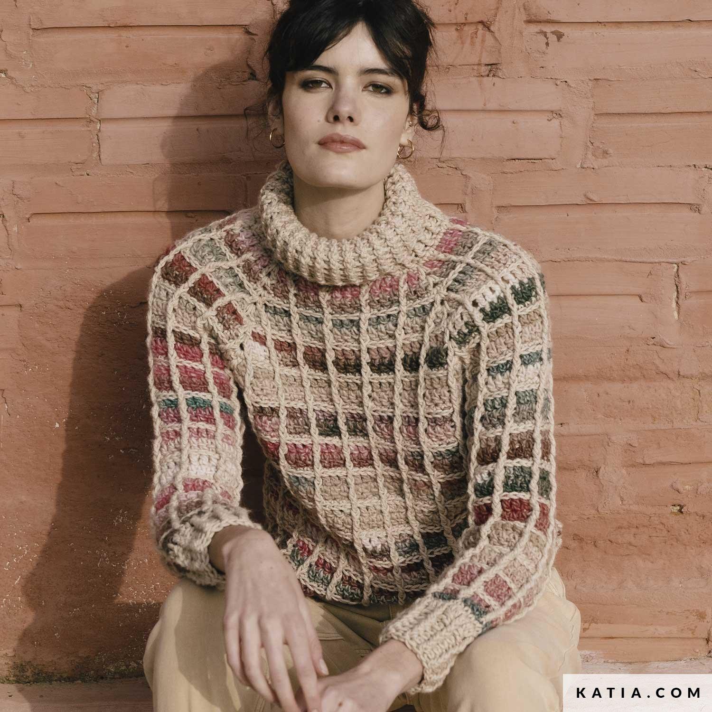 patroon breien haken dames trui herfst winter katia 6183 41 g