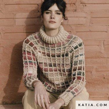 patroon breien haken dames trui herfst winter katia 6183 41 p
