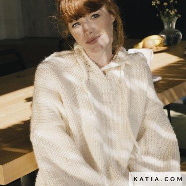 patroon breien haken dames trui herfst winter katia 6183 7 p