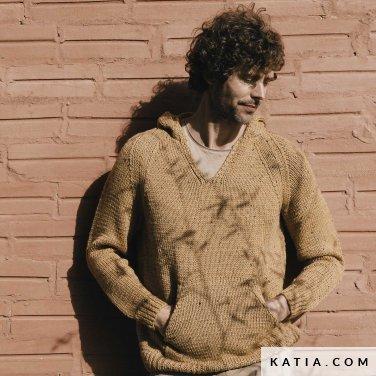 patroon breien haken heren trui herfst winter katia 6183 26 p