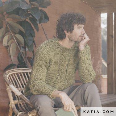 patroon breien haken heren trui herfst winter katia 6183 35 p