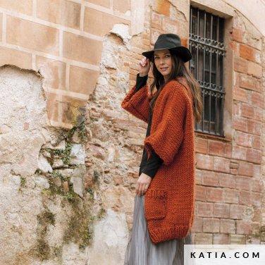 patroon breien haken dames jas herfst winter katia 6184 13 p