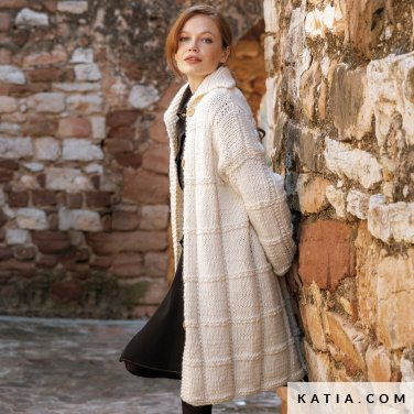 patroon breien haken dames jas herfst winter katia 6184 21 p